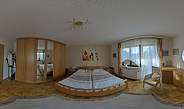 360° Panorama Fotografie Schlafzimmer Hotel Appartment
